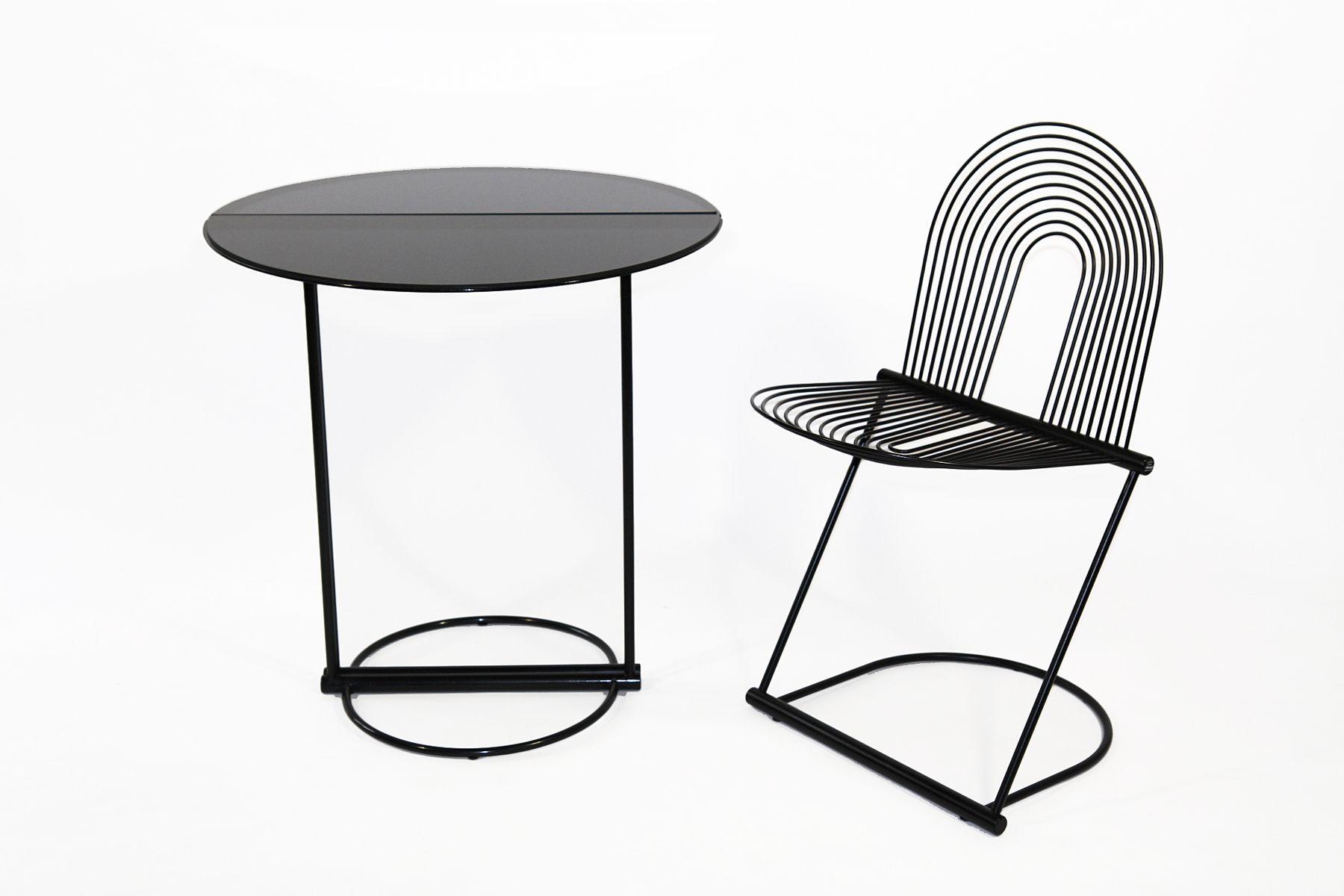 swing tisch und stuhl von jutta herbert ohl f r rosenthal 1982 2er set bei pamono kaufen. Black Bedroom Furniture Sets. Home Design Ideas