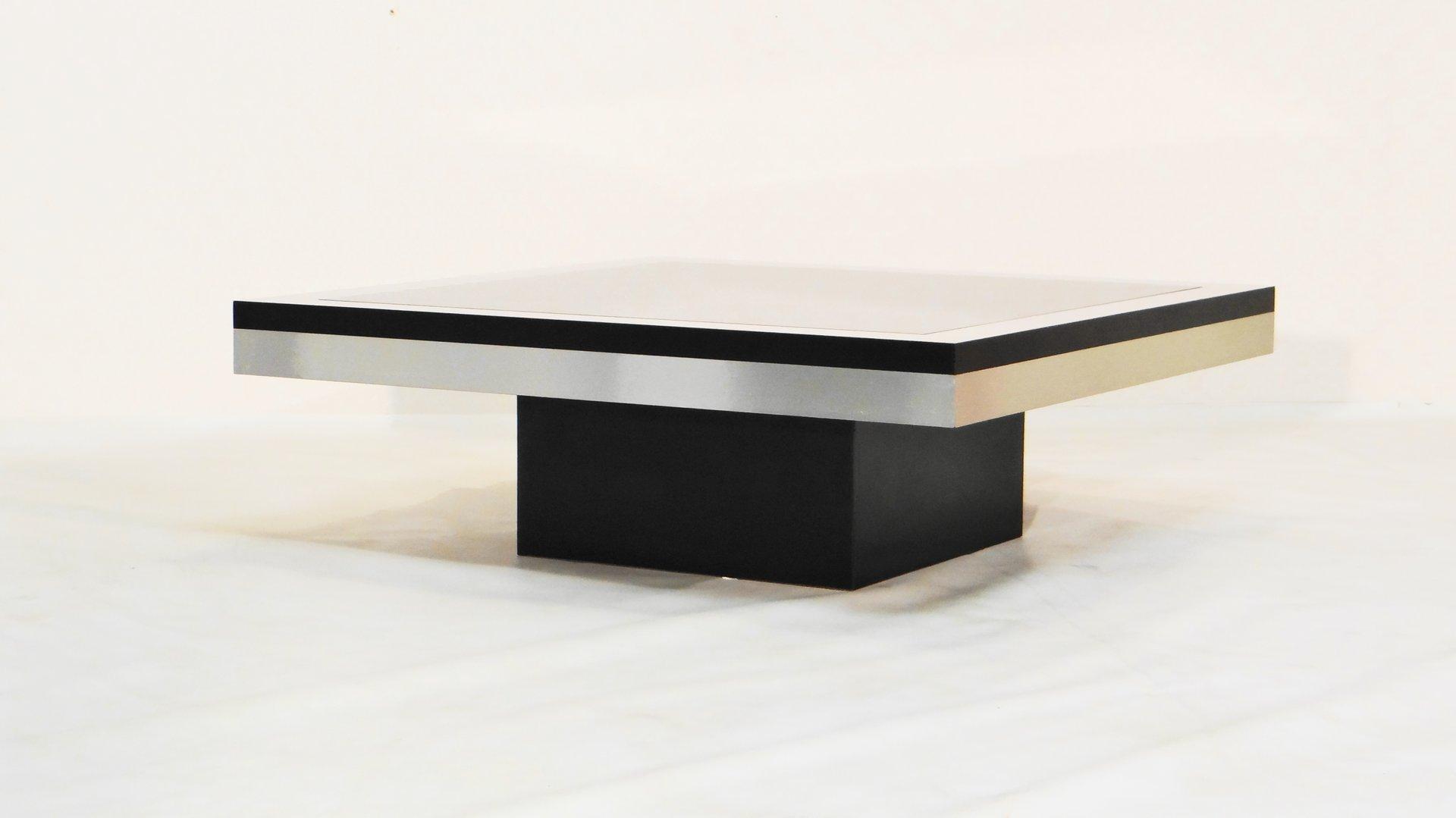 edelstahl und glas couchtisch frankreich bei pamono kaufen. Black Bedroom Furniture Sets. Home Design Ideas