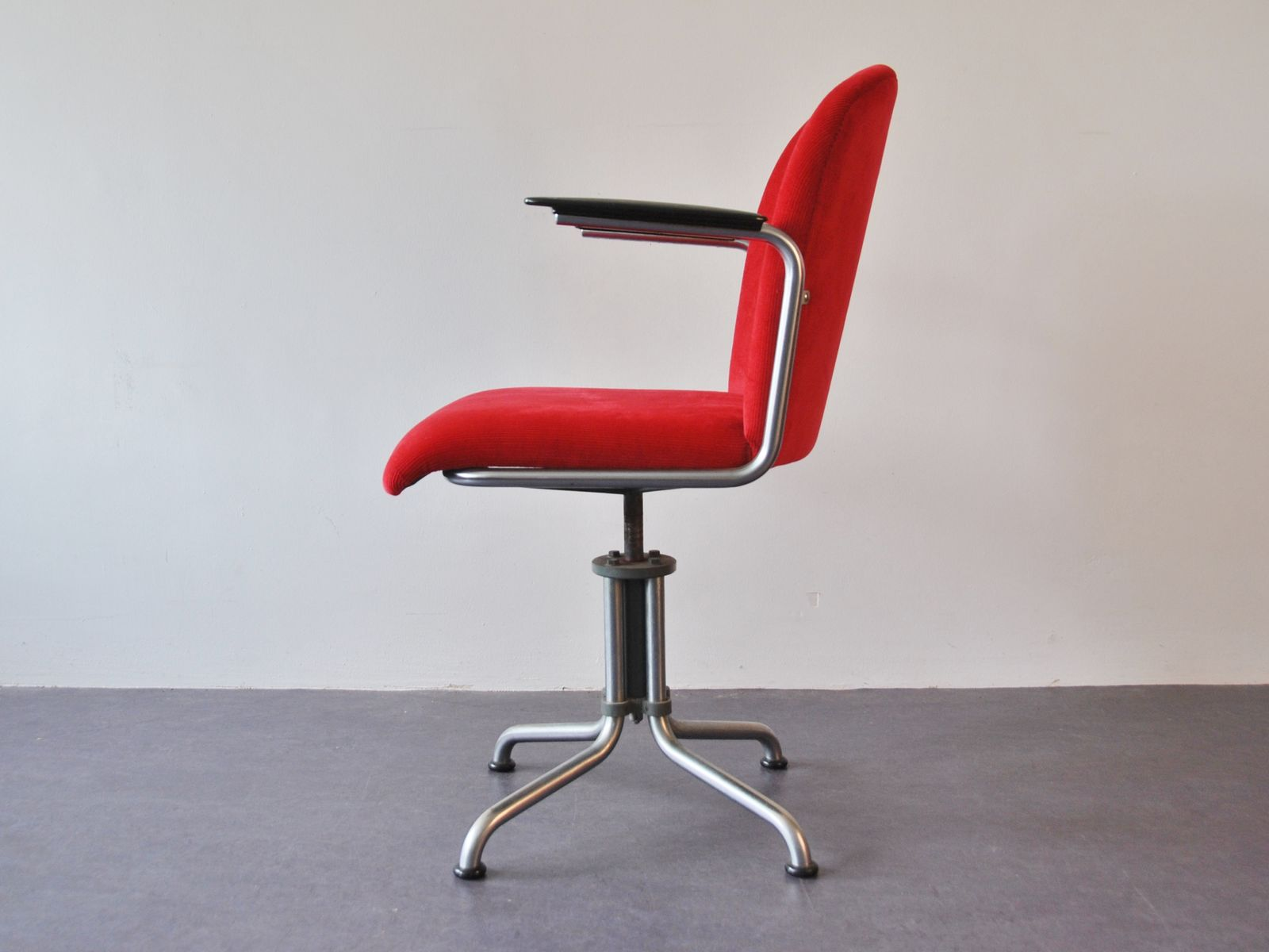 Vintage Desk Chair by W H Gispen for Gispen 1950s for sale at Pamono