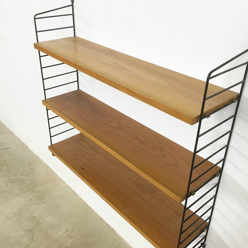 elm wood wandregal von nisse strinning f r string bei pamono kaufen. Black Bedroom Furniture Sets. Home Design Ideas