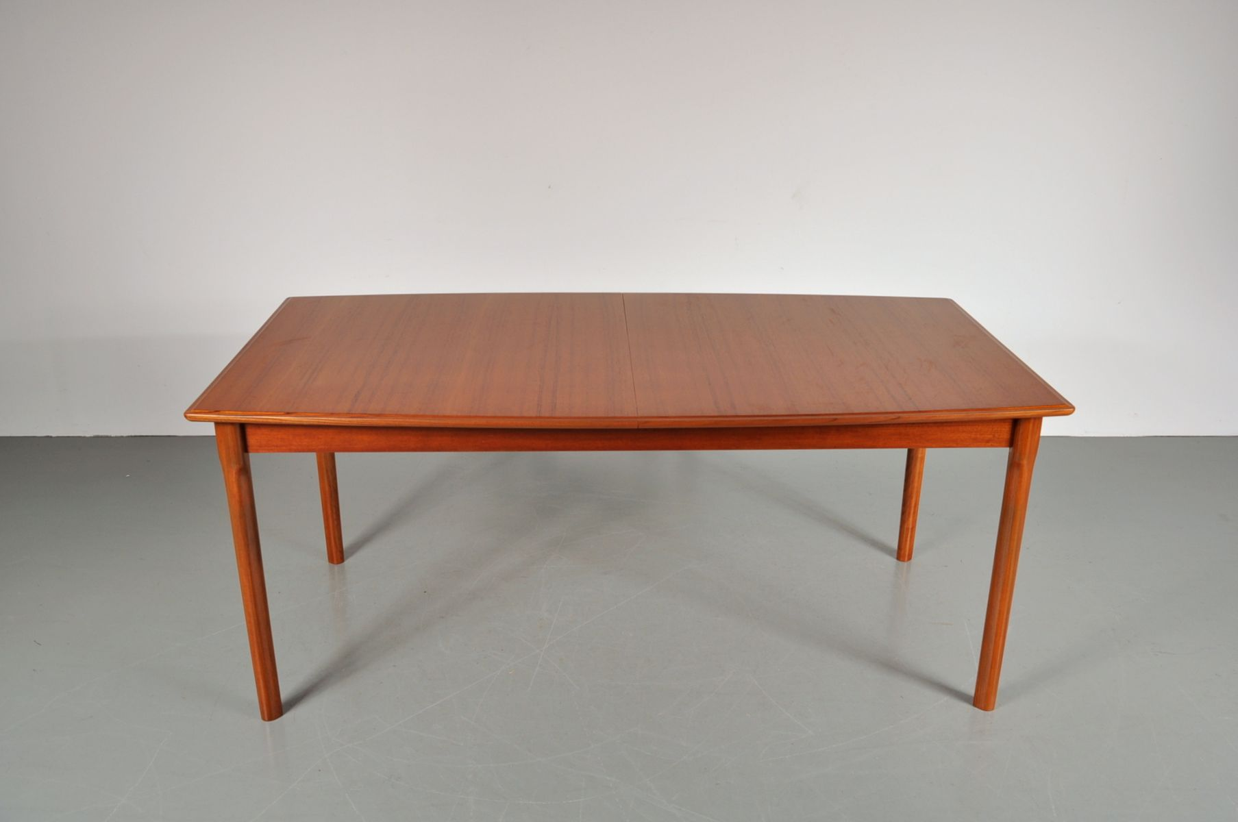 vintage teak esstisch mit ausziehbarer tischplatte 1950er bei pamono kaufen. Black Bedroom Furniture Sets. Home Design Ideas