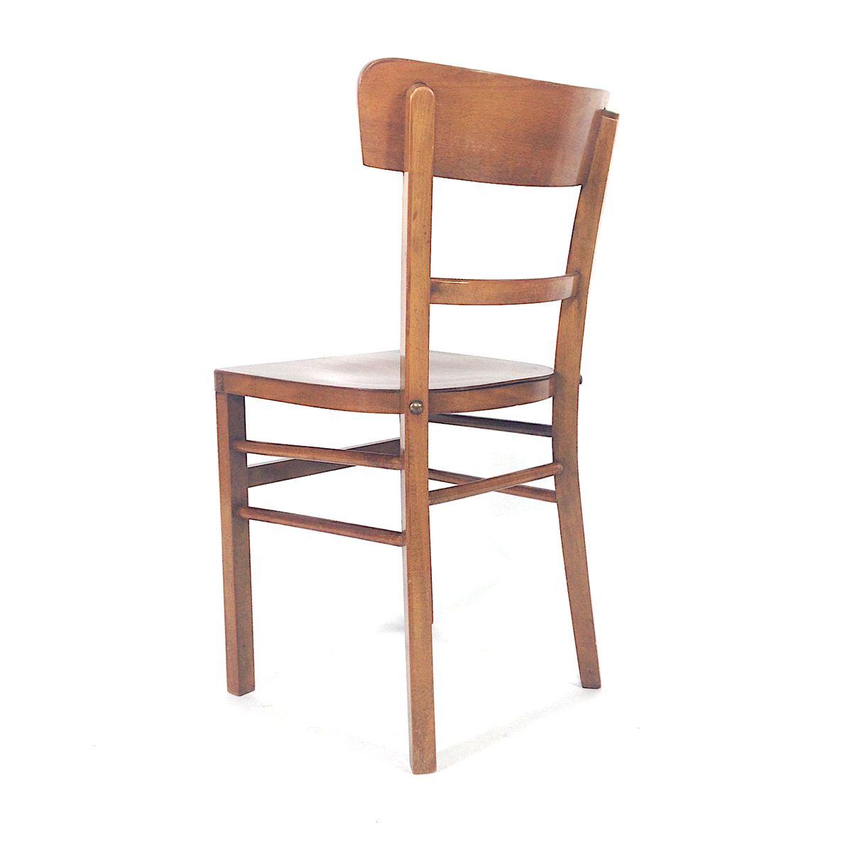 franz sische vintage nussbaum esszimmerst hle 1940er 4er. Black Bedroom Furniture Sets. Home Design Ideas