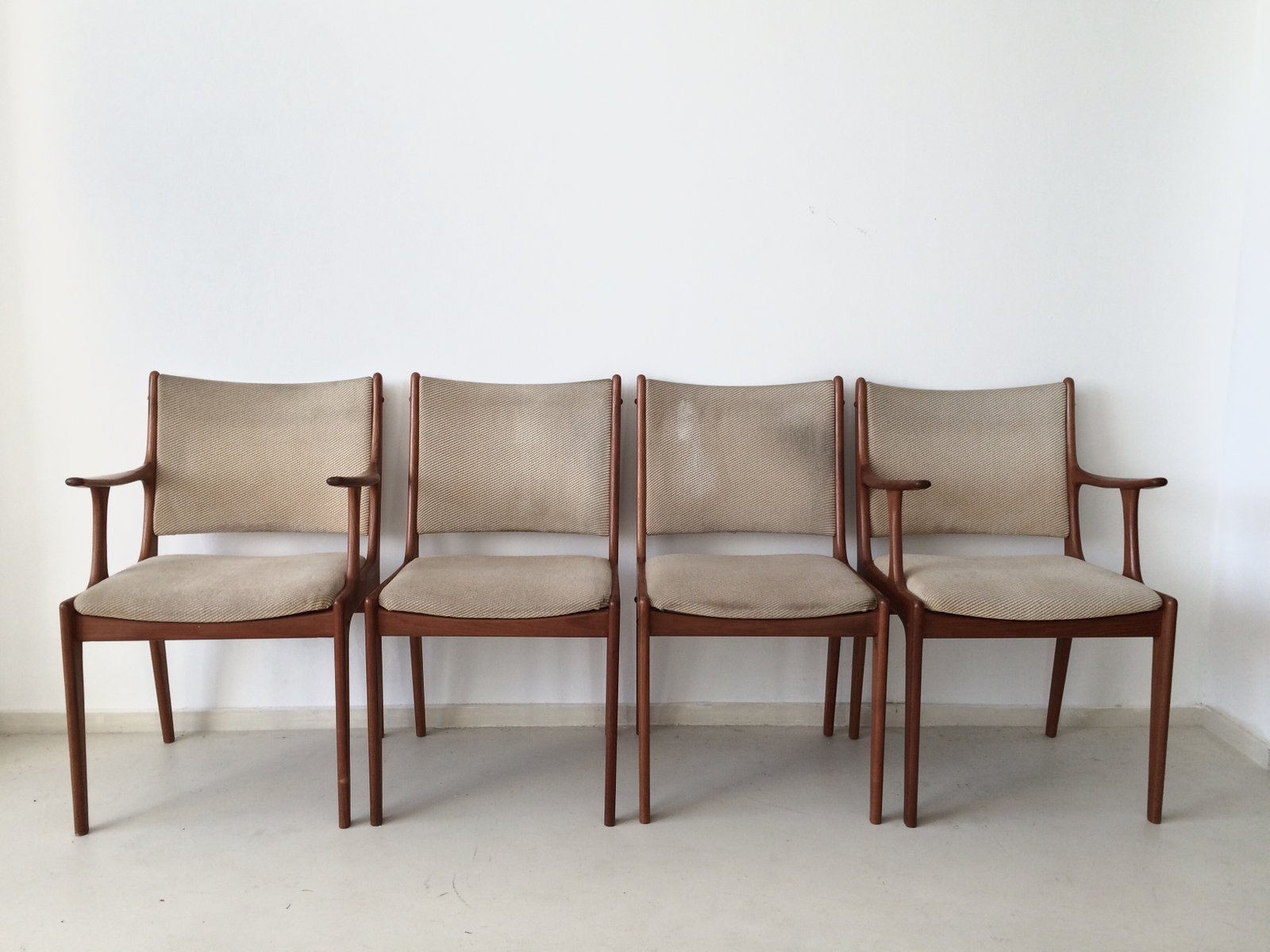 Teak Dining Chairs By Johannes Andersen For Uldum