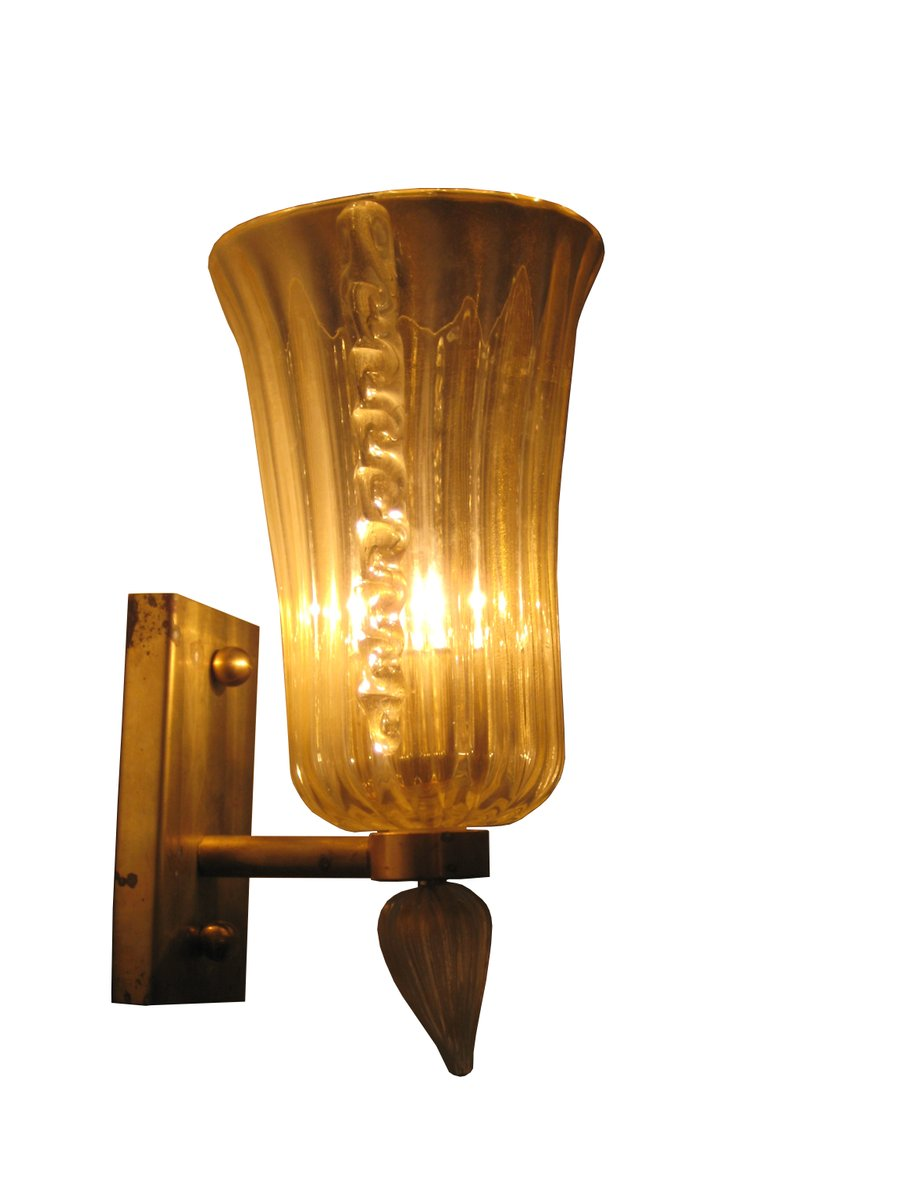 italian murano glass wall lamp for sale at pamono. Black Bedroom Furniture Sets. Home Design Ideas