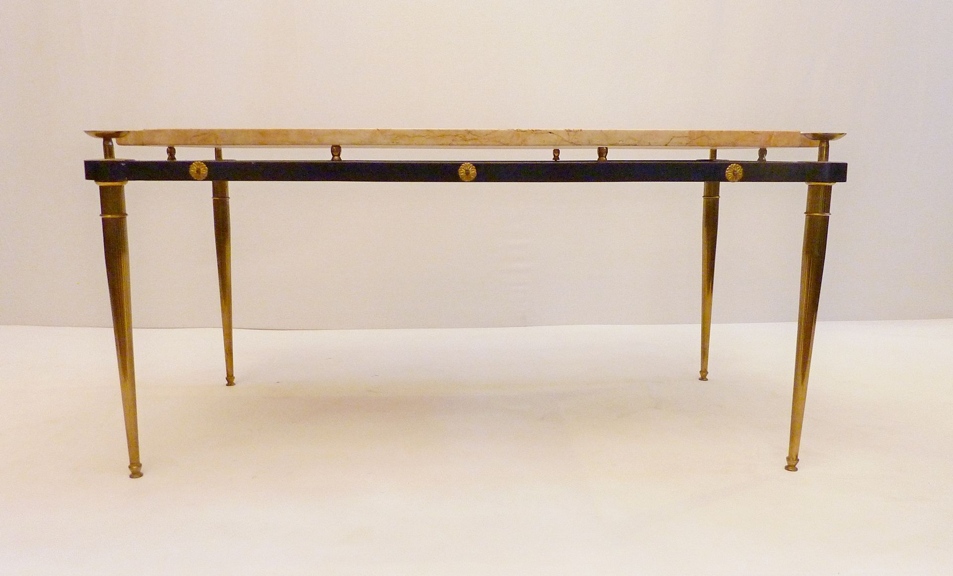 Italian Marble Coffee Table Italian Marble Brass Coffee Table 1950s For Sale At Pamono