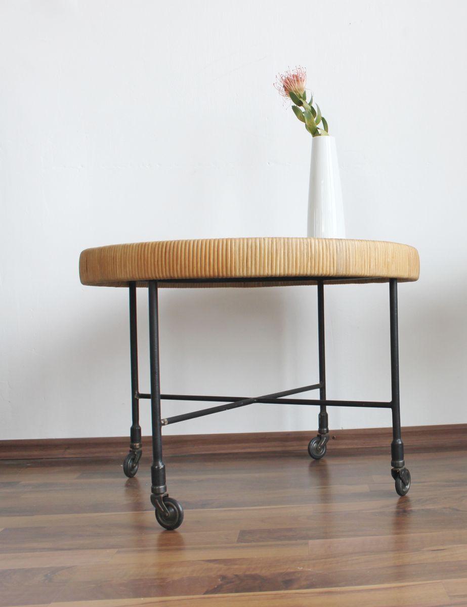 rattan beistelltisch 1960er bei pamono kaufen. Black Bedroom Furniture Sets. Home Design Ideas