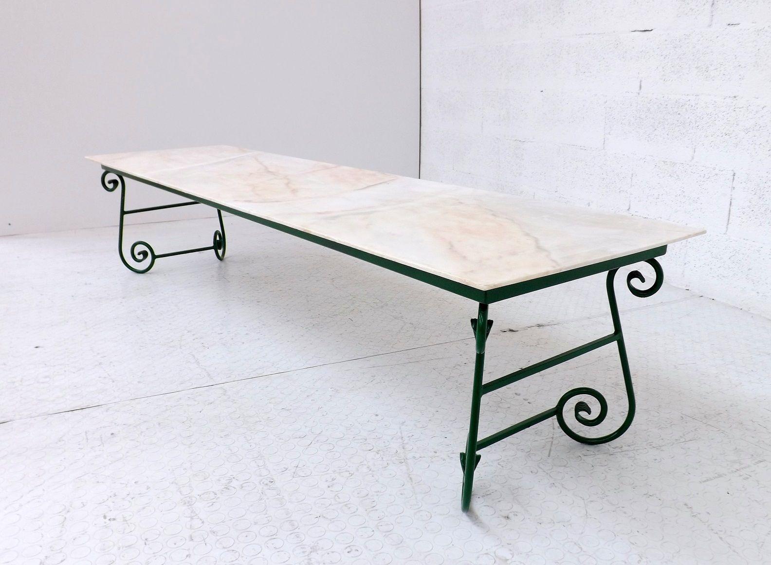 niedriger italienischer couchtisch mit marmorplatte bei. Black Bedroom Furniture Sets. Home Design Ideas
