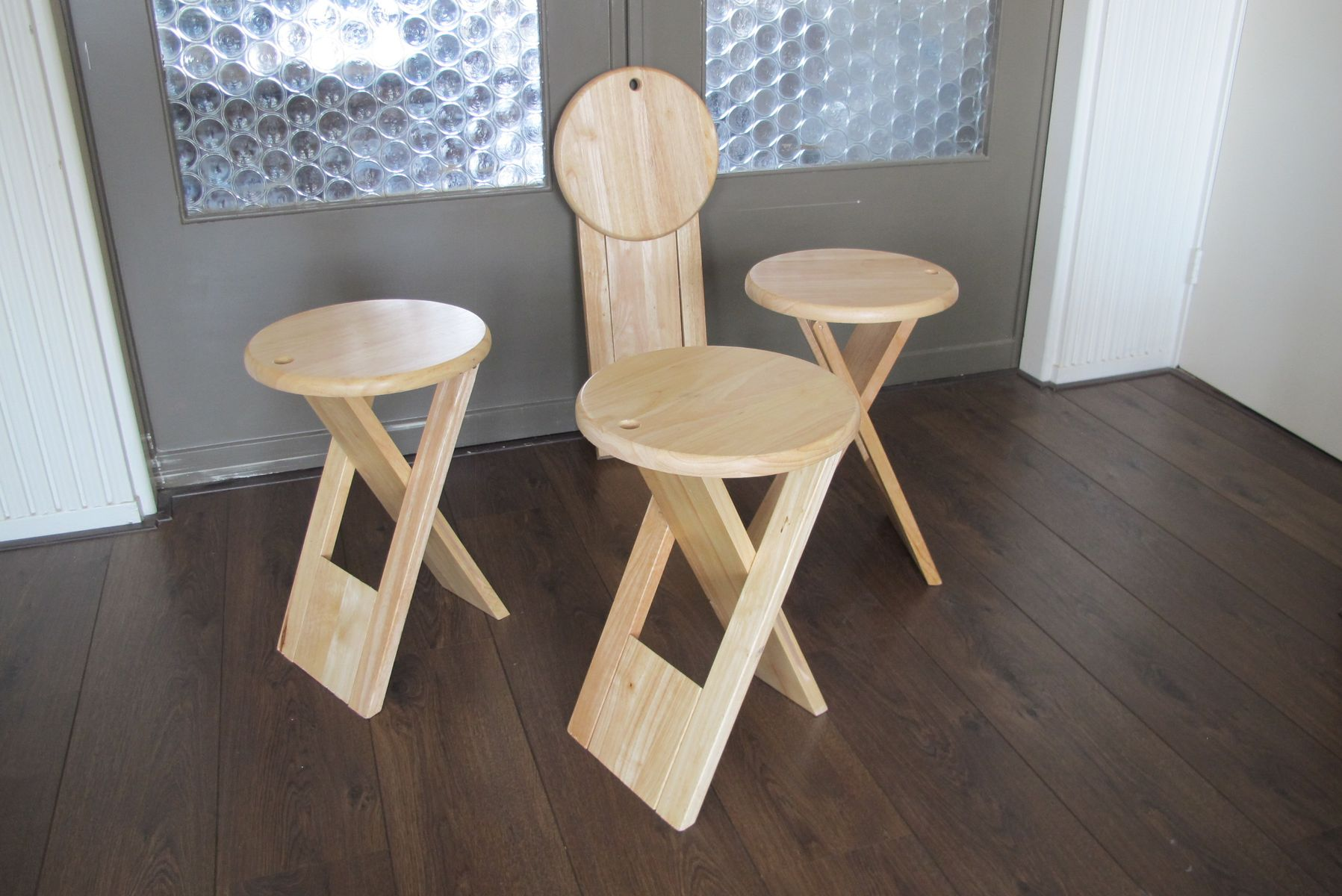 French Ts Folding Stools By Roger Tallon Set Of 2 For