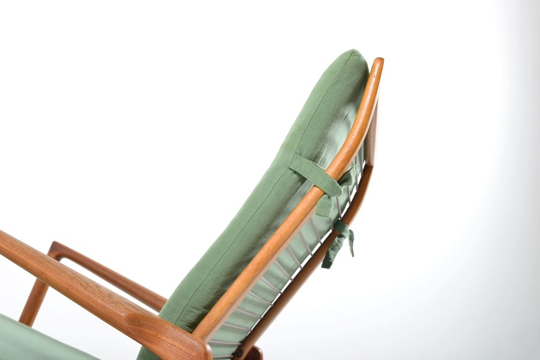 Vintage Lounge Chair Ottoman By Ib Kofod Larsen For Selig Set Of 2 For Sale At Pamono