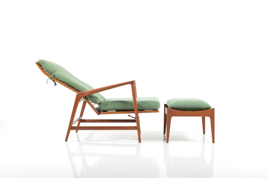 Vintage lounge chair ottoman by ib kofod larsen for selig set of 2 for sale at pamono - Selig z chair for sale ...
