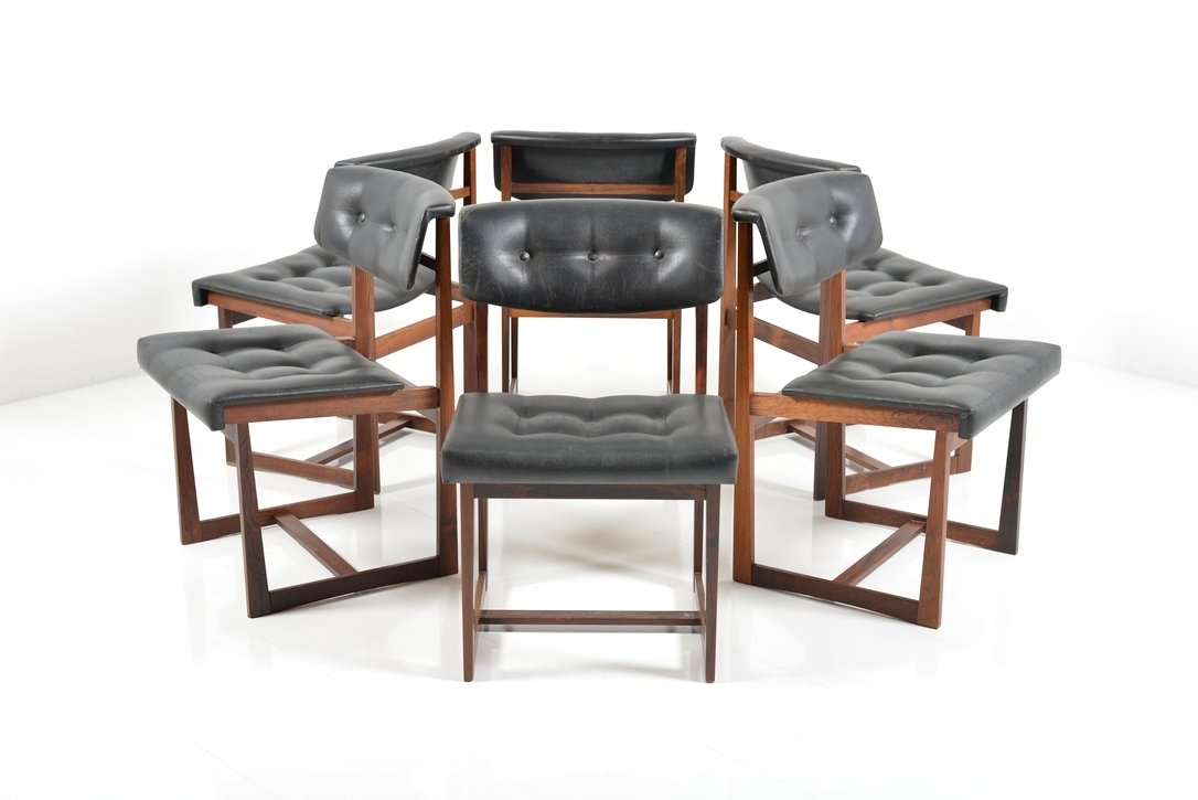 danish rosewood dining chairs 1960s set of 6 for sale at pamono