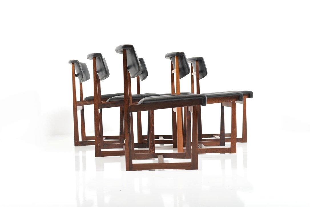 d nische palisander esszimmerst hle 1960er 6er set bei. Black Bedroom Furniture Sets. Home Design Ideas