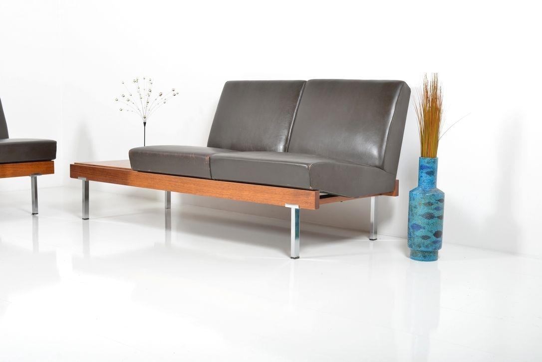 d nische palisander und leder sofas 2er set bei pamono kaufen. Black Bedroom Furniture Sets. Home Design Ideas