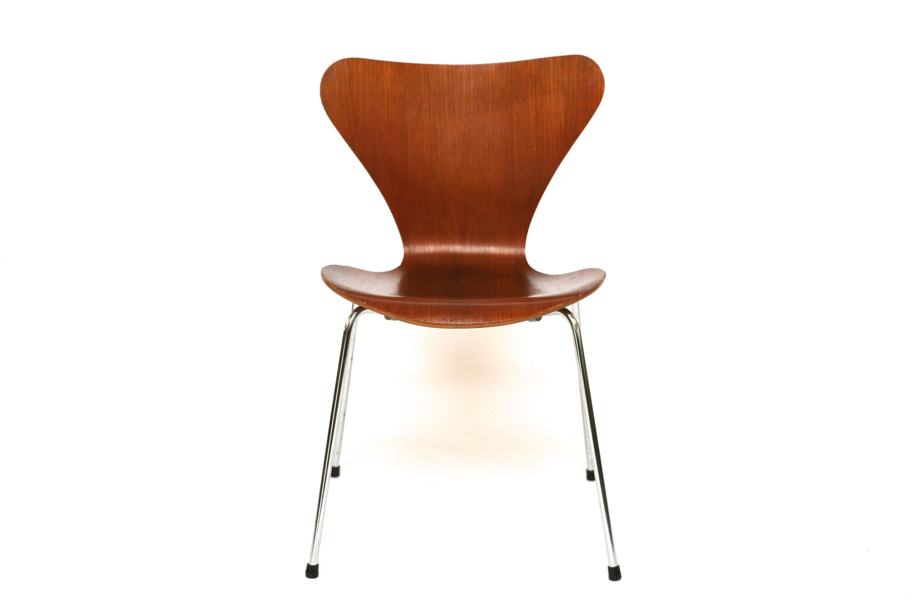 vintage teak st hle von arne jacobsen f r fritz hansen. Black Bedroom Furniture Sets. Home Design Ideas
