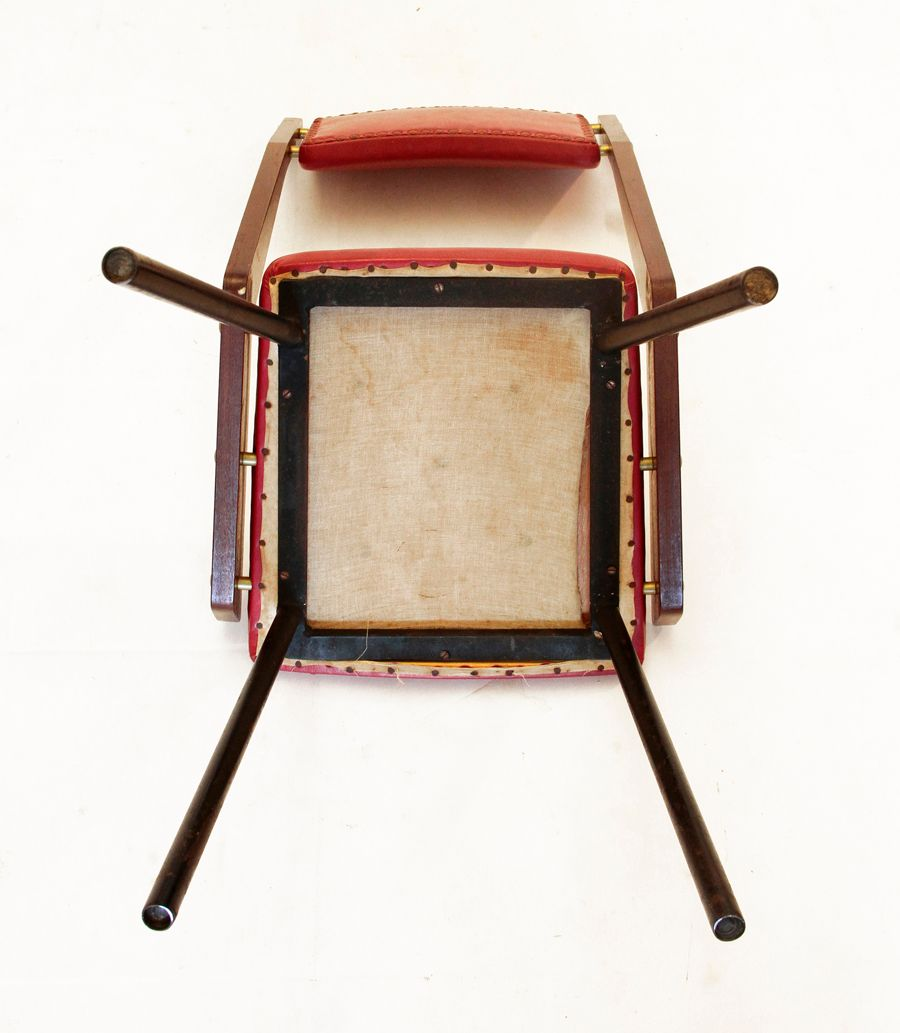 vintage wooden italian dining chairs set of 6 for sale at pamono