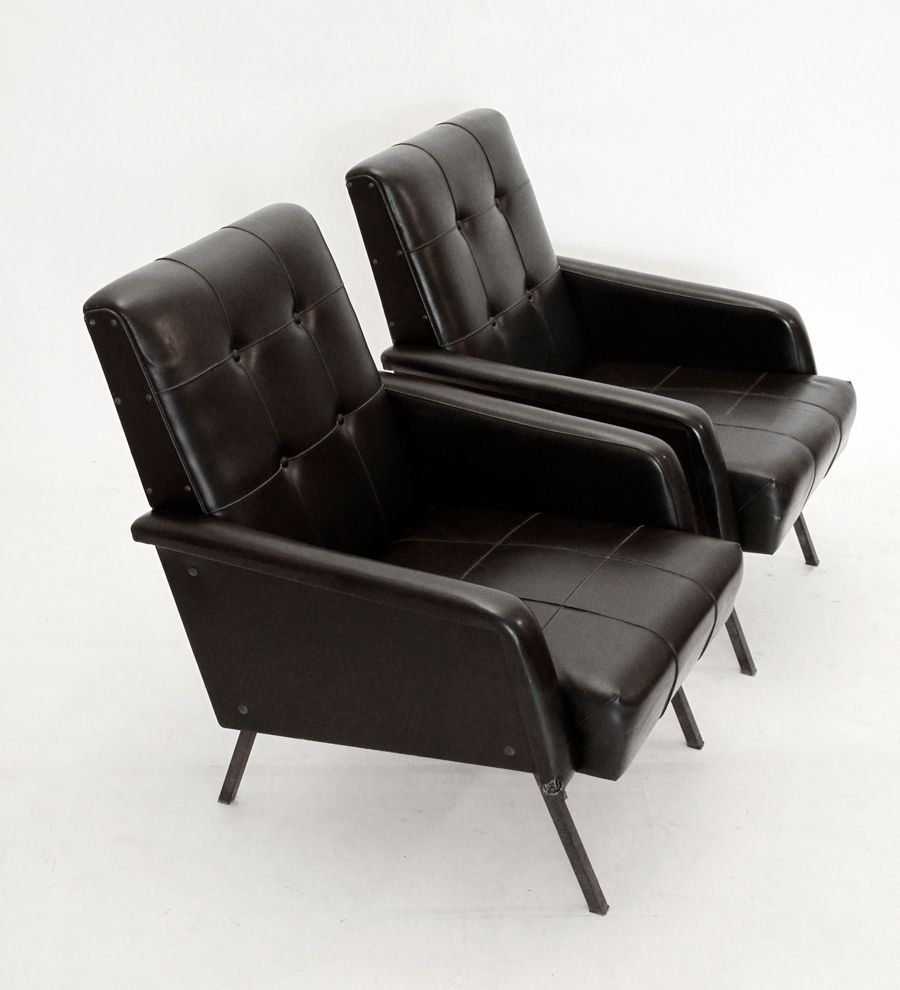 italienische midcentury sessel 1950er 2er set bei pamono. Black Bedroom Furniture Sets. Home Design Ideas