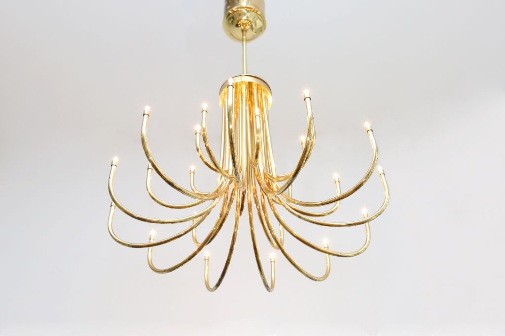 Brass Chandeliers 1980s Set Of 2 For Sale At Pamono