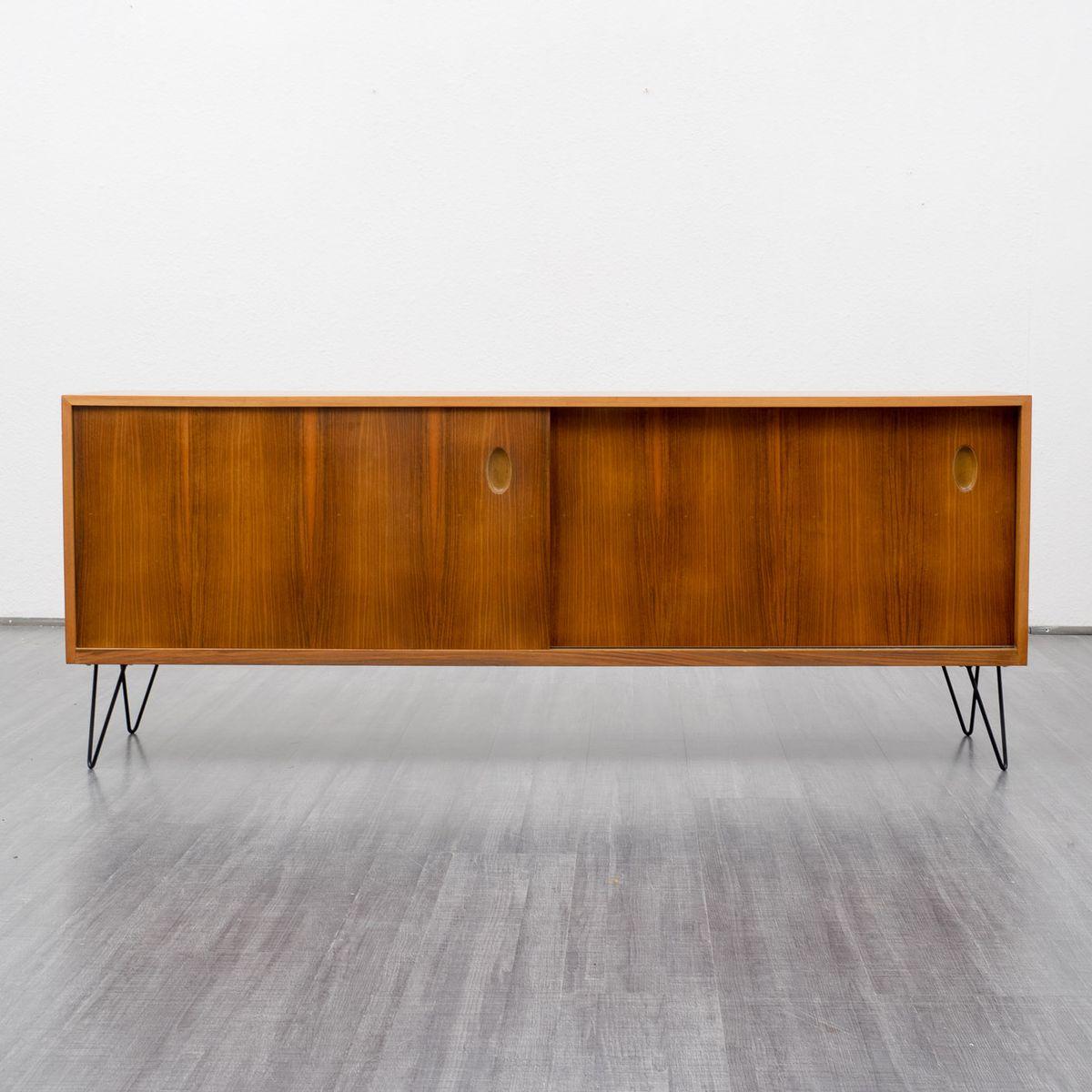 walnut sideboard by georg satink for wk m bel 1950s for. Black Bedroom Furniture Sets. Home Design Ideas