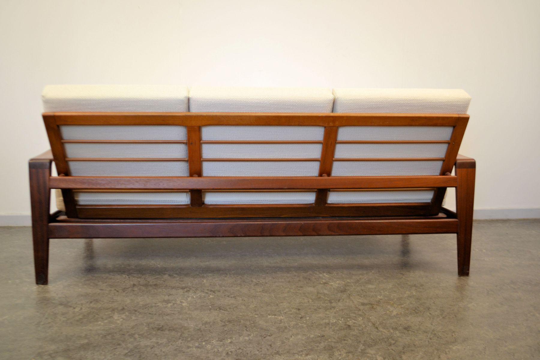teakholz drei sitz sofa von arne wahl f r komfort bei pamono kaufen. Black Bedroom Furniture Sets. Home Design Ideas
