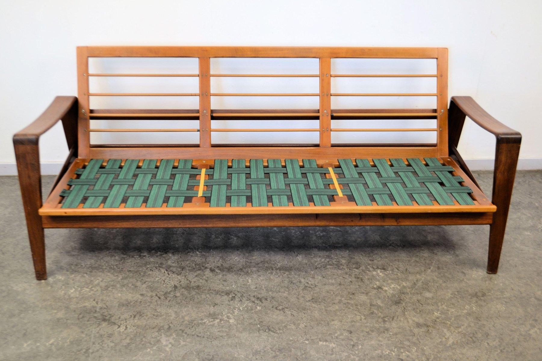 teak 3 seater sofa by arne wahl iversen for komfort for. Black Bedroom Furniture Sets. Home Design Ideas