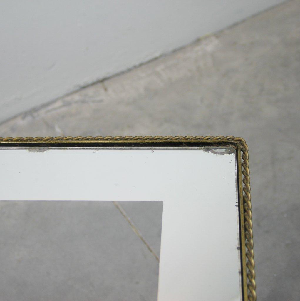 beistelltisch aus metall und glas 1950er bei pamono kaufen. Black Bedroom Furniture Sets. Home Design Ideas