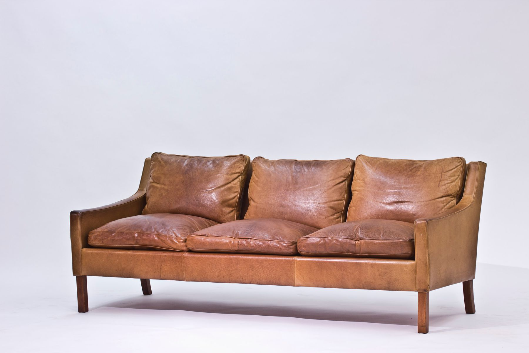 3 seater leather sofa by ib kofod larsen for ope m bler for Leather sofa 7 seater