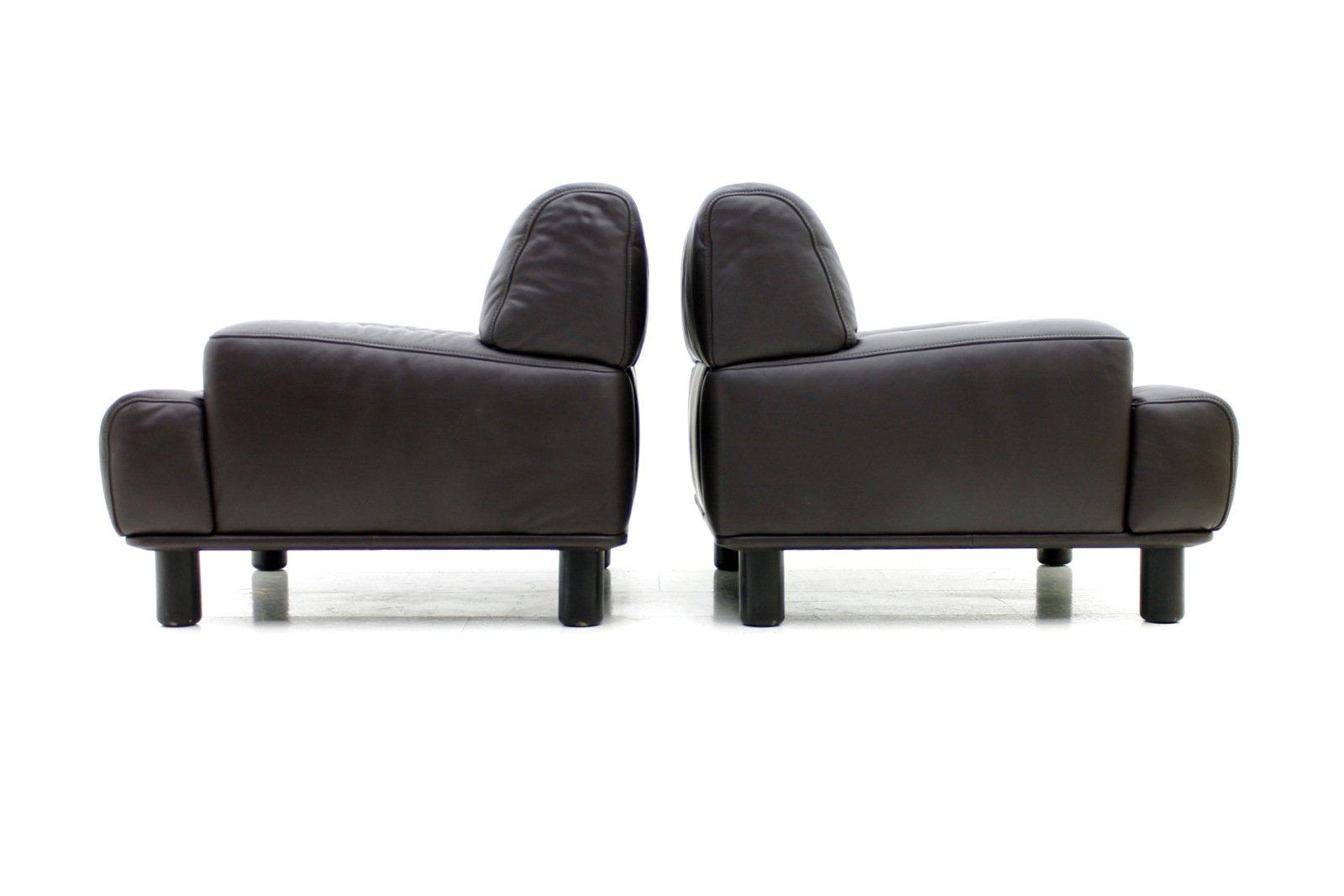 schweizerische vintage leder lounge sessel von de sede bei. Black Bedroom Furniture Sets. Home Design Ideas