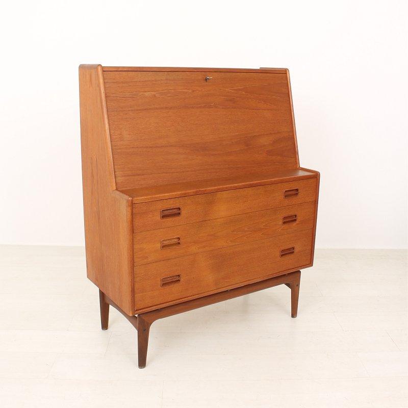 d nischer mid century teak sekret r von mogens kold bei pamono kaufen. Black Bedroom Furniture Sets. Home Design Ideas