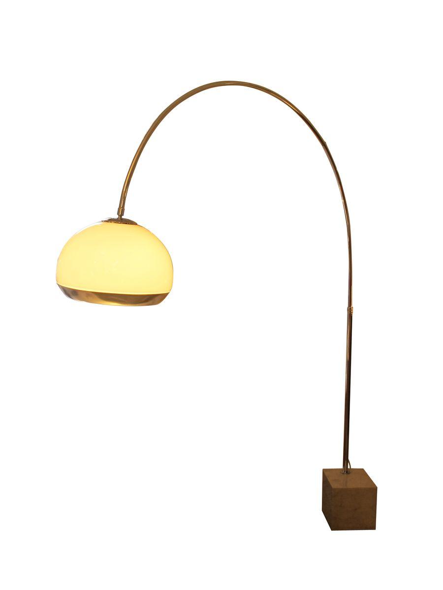 bogen lampe mit marmorfu von leola bei pamono kaufen. Black Bedroom Furniture Sets. Home Design Ideas