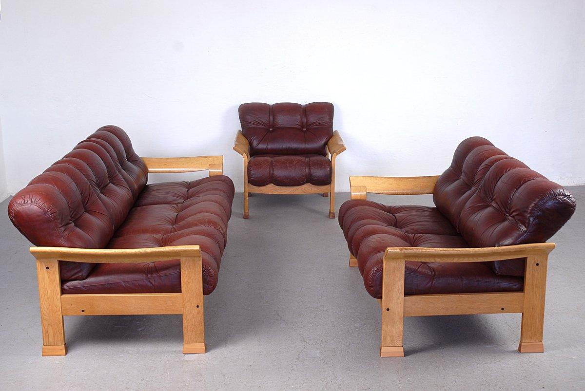 d nisches vintage 3 sitzer sofa aus braunem leder bei. Black Bedroom Furniture Sets. Home Design Ideas