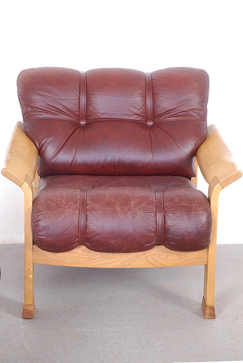 Dänisches Vintage 3-Sitzer-Sofa aus Braunem Leder bei ...