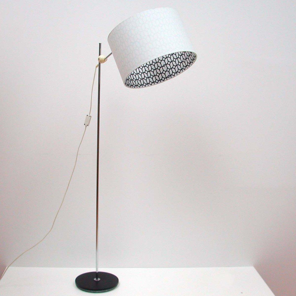 German Mid Century Adjustable Chrome Floor Lamp