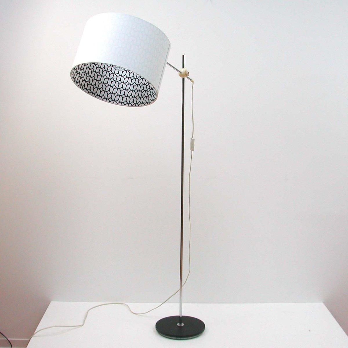 German mid century adjustable chrome floor lamp for sale for Ottoni floor lamp chrome