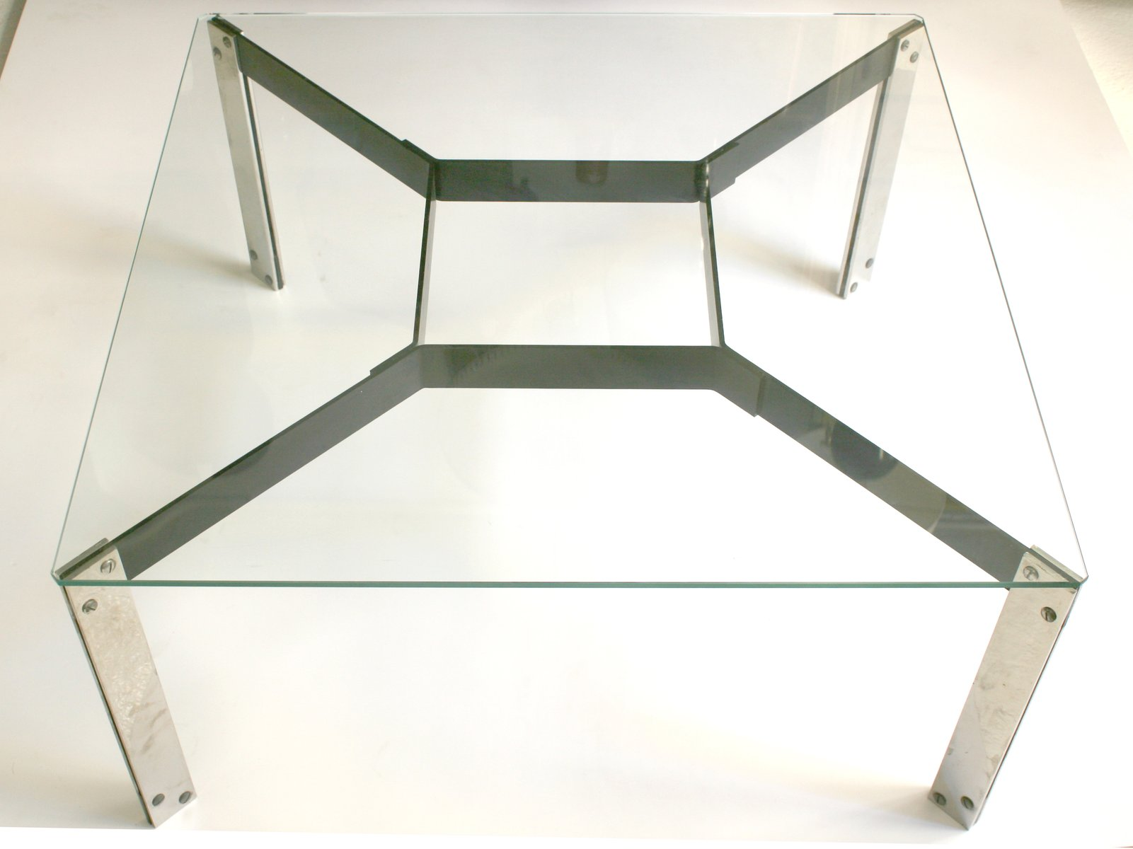 Mid Century Glass Table by Miquel Mila for Gres 1962 for sale at