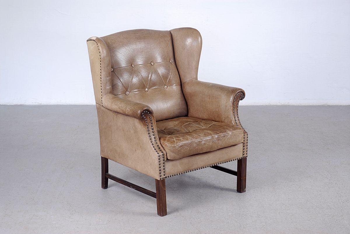 genieteter vintage kunstleder sessel bei pamono kaufen. Black Bedroom Furniture Sets. Home Design Ideas