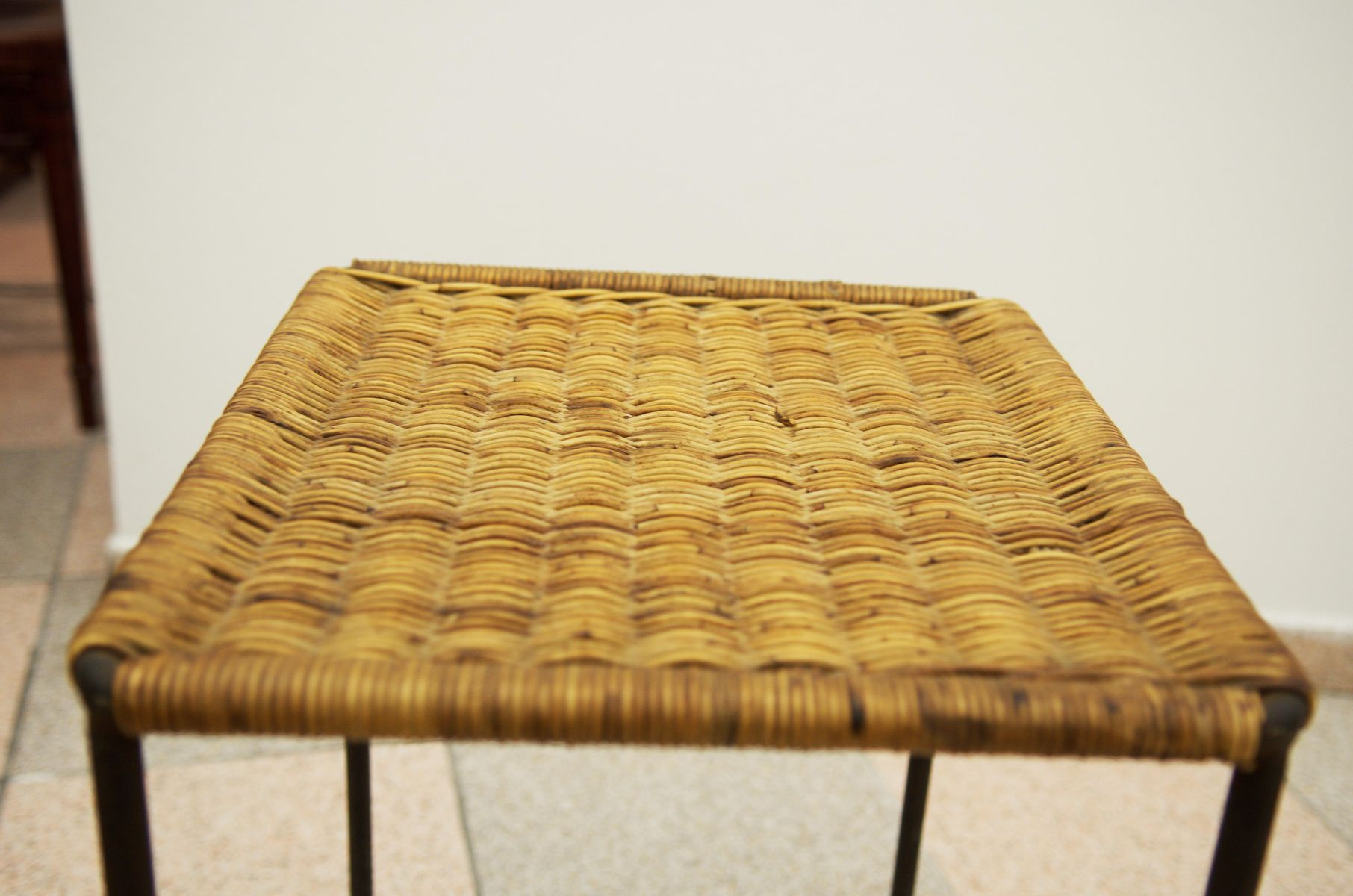 Rattan Side Table By Carl Auböck