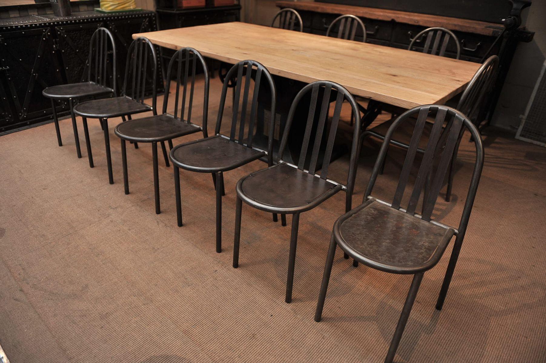 chaise vintage industrielle en fer de mallet stevens en vente sur pamono. Black Bedroom Furniture Sets. Home Design Ideas