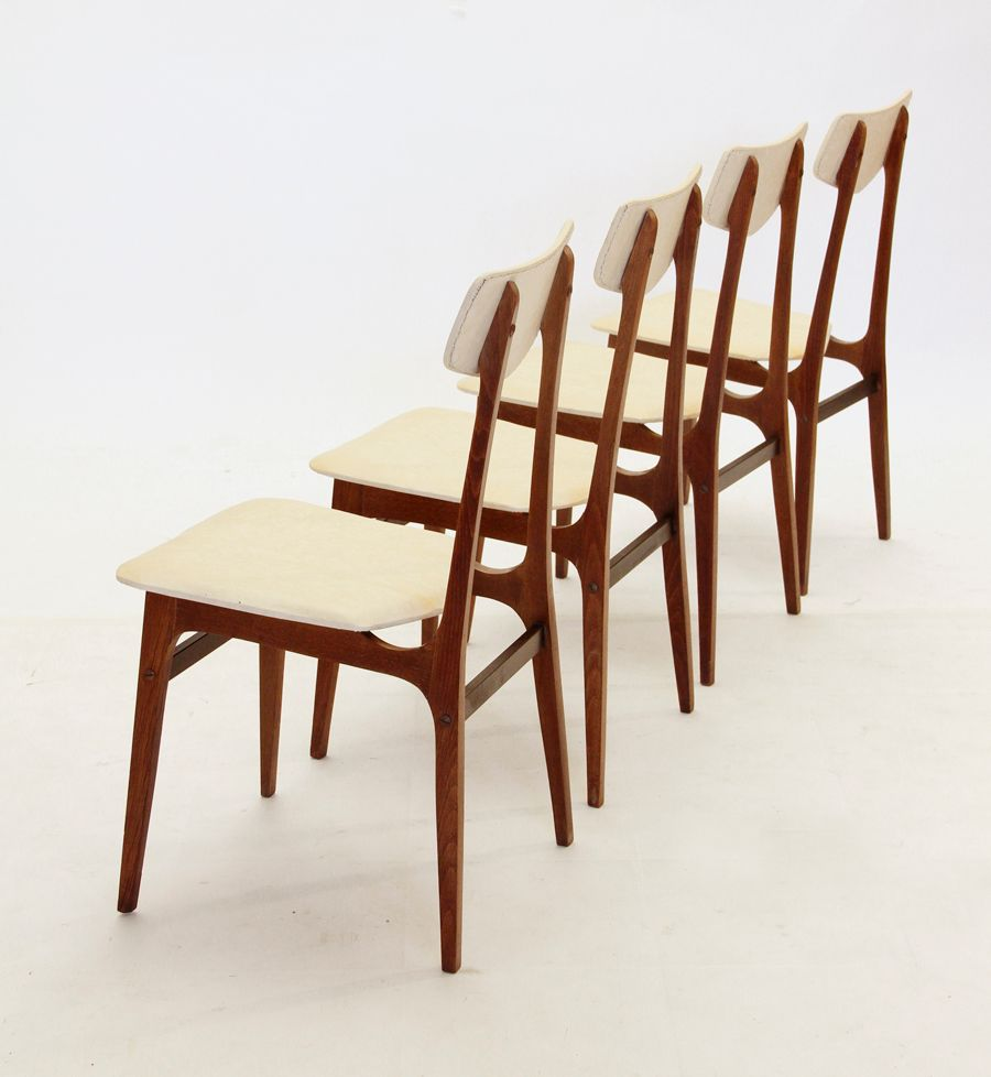 Vintage Italian Dining Chairs Set Of 4 For Sale At Pamono
