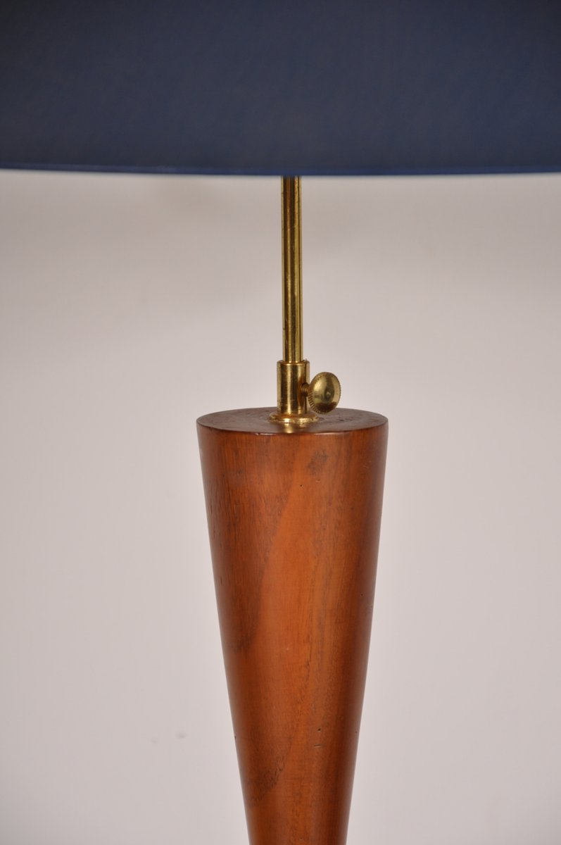 Scandinavian Teak Table Lamp with Brass Base for sale at ...