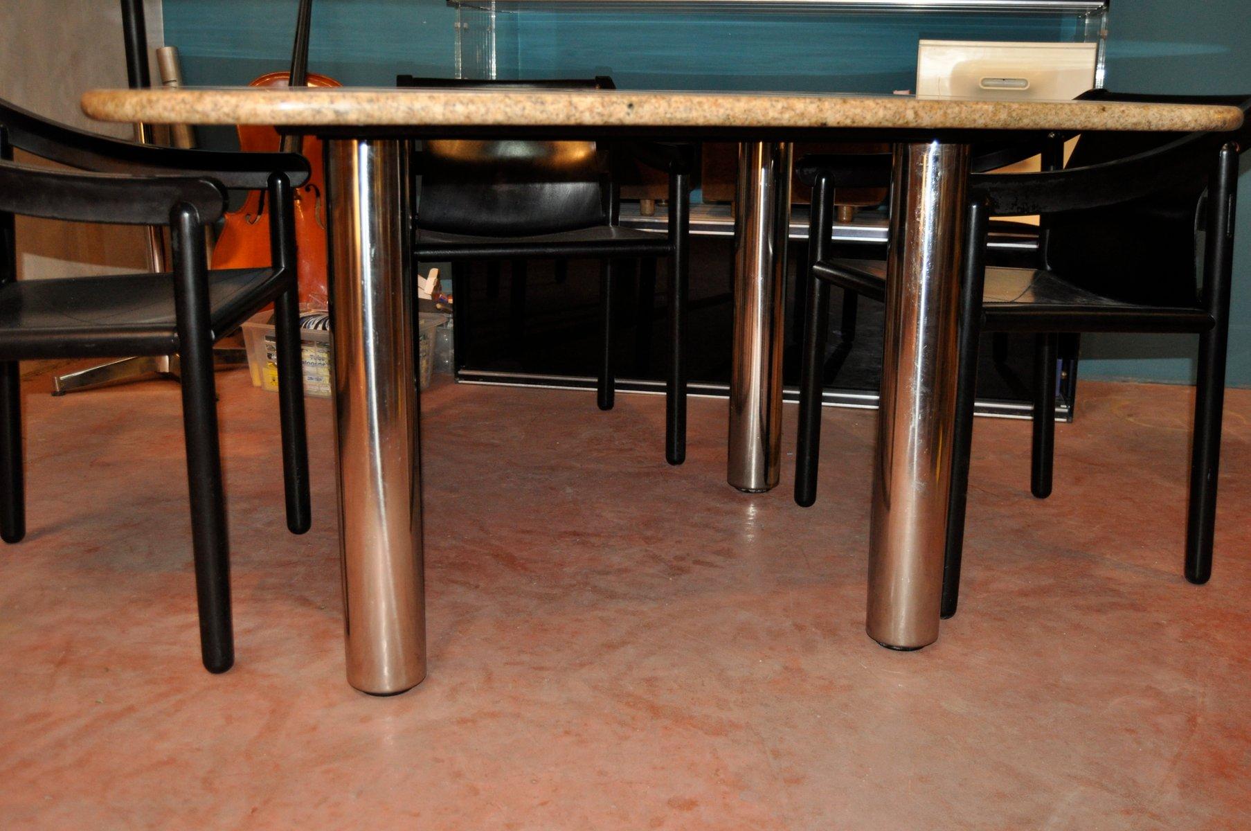 table de salle manger marcuso vintage en marbre de zanotta en vente sur pamono. Black Bedroom Furniture Sets. Home Design Ideas