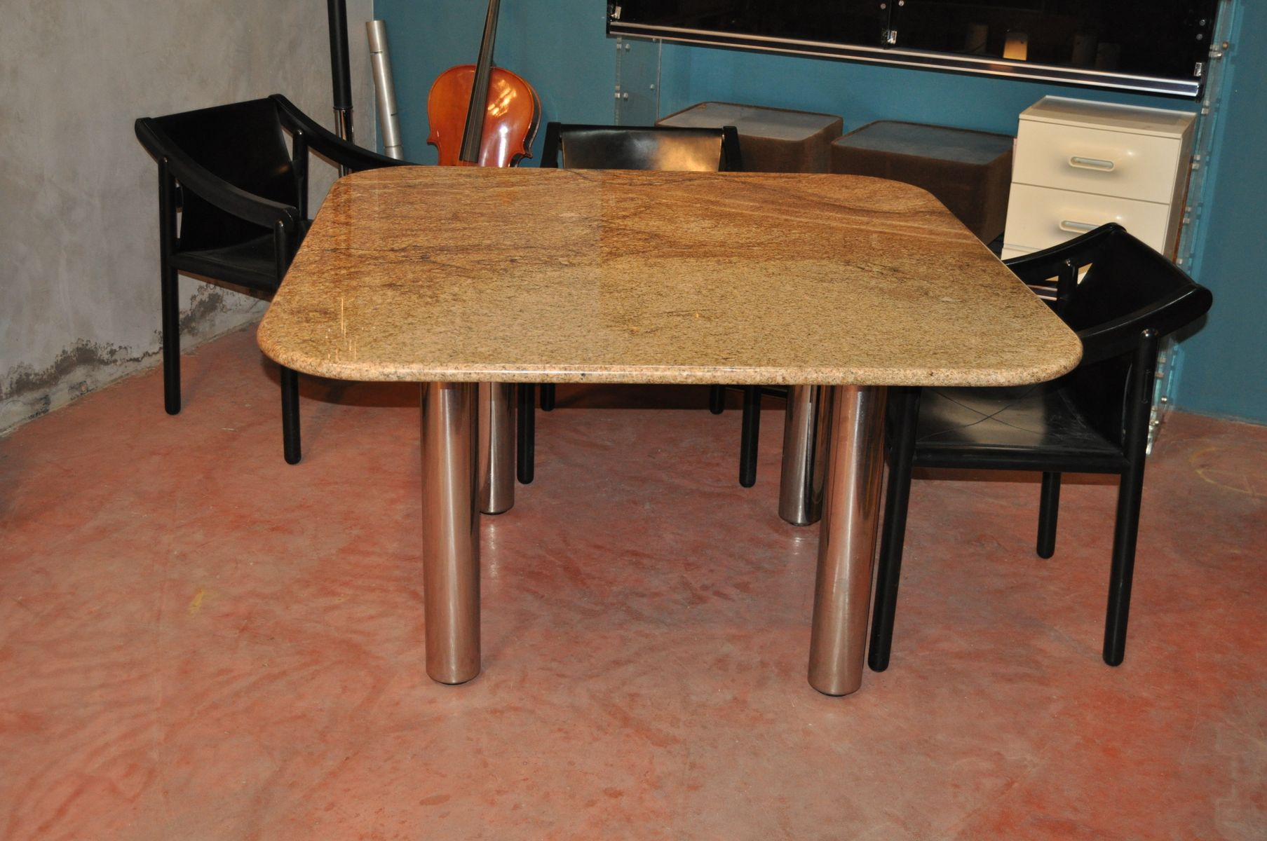Vintage Marcuso Marble Dining Table from Zanotta for sale  : vintage marcuso marble dining table from zanotta 9 from www.pamono.com size 1807 x 1200 jpeg 203kB