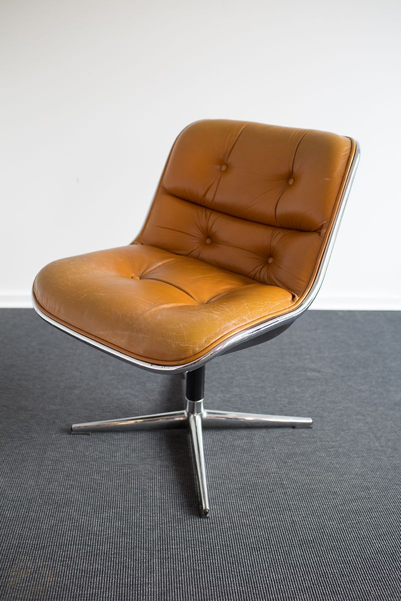 executive office chair by charles pollock for knoll for. Black Bedroom Furniture Sets. Home Design Ideas
