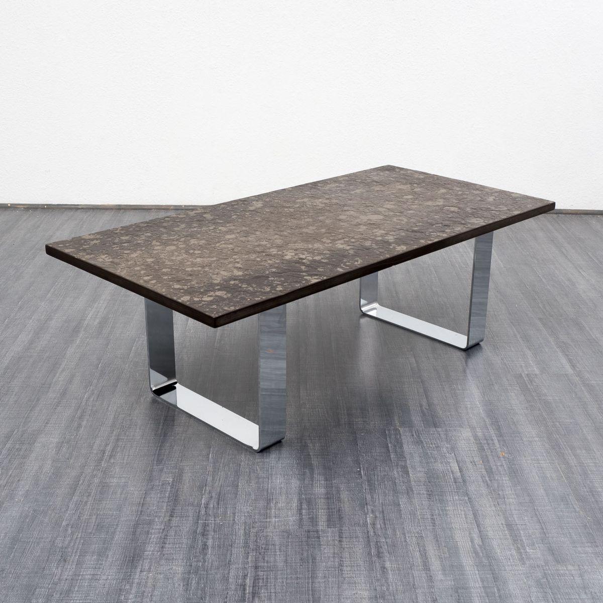 couchtisch mit schieferplatte von draenert 1970er bei. Black Bedroom Furniture Sets. Home Design Ideas