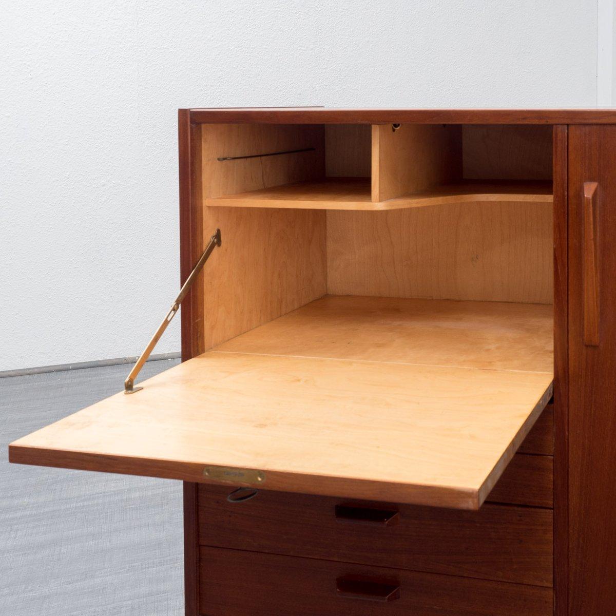 vintage scandinavian highboard with secretary for sale at. Black Bedroom Furniture Sets. Home Design Ideas