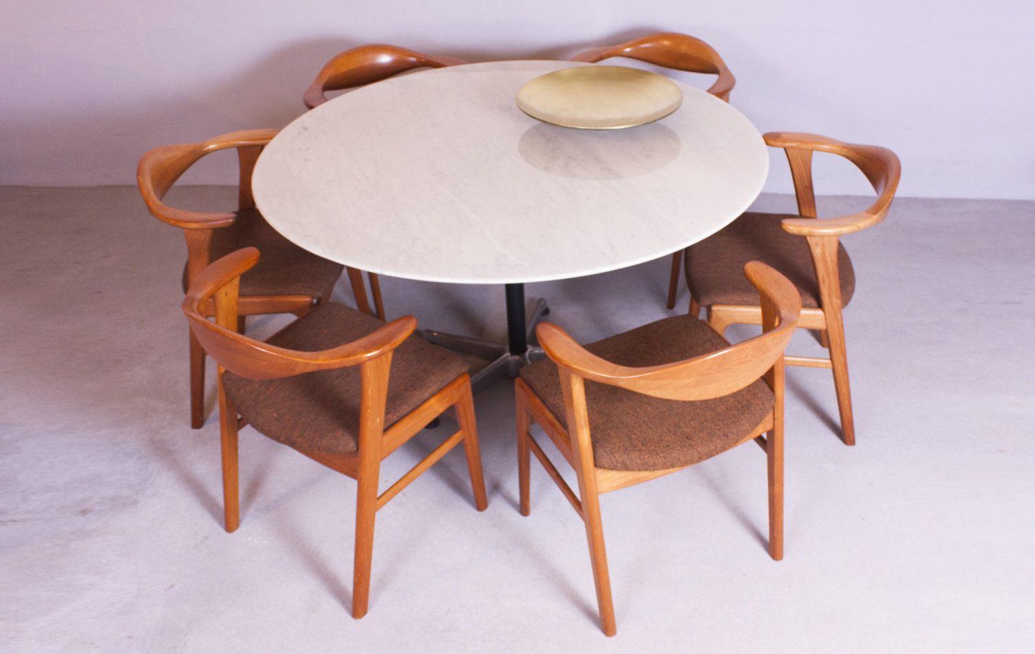 Marmor Esstisch ~ Marmor Esstisch von Drabert Stahlmöbel bei Pamono kaufen
