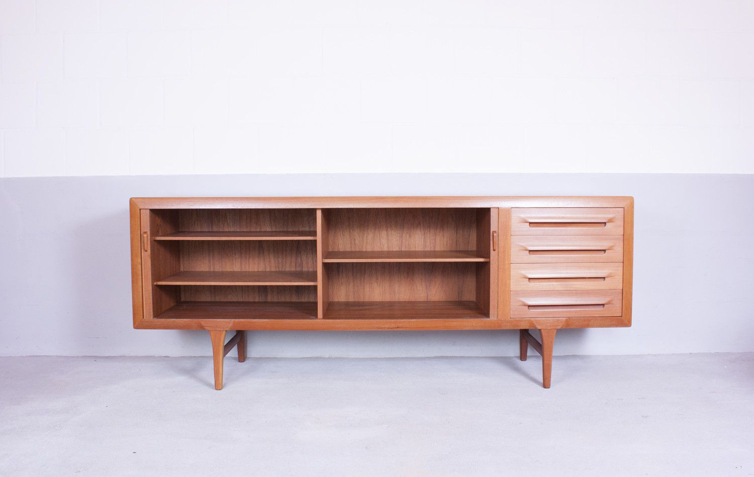 Vintage teak sideboard by ib kofod larsen for faarup for for Sideboard x7