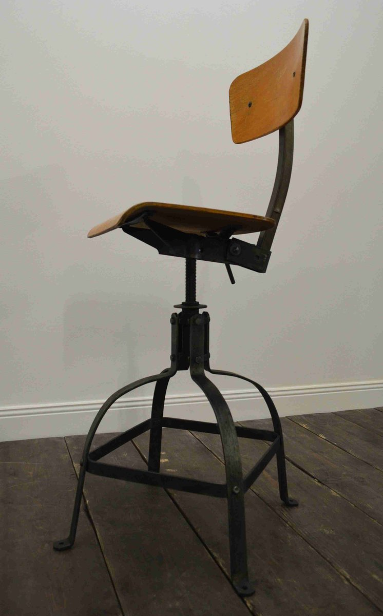 vintage industrial height adjustable bienaise chair for sale at pamono. Black Bedroom Furniture Sets. Home Design Ideas
