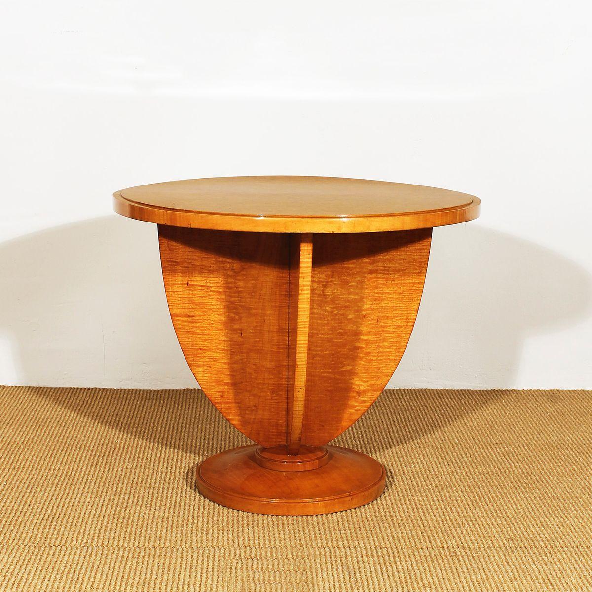 franz sischer art deco ahornholz beistelltisch 1925 bei. Black Bedroom Furniture Sets. Home Design Ideas