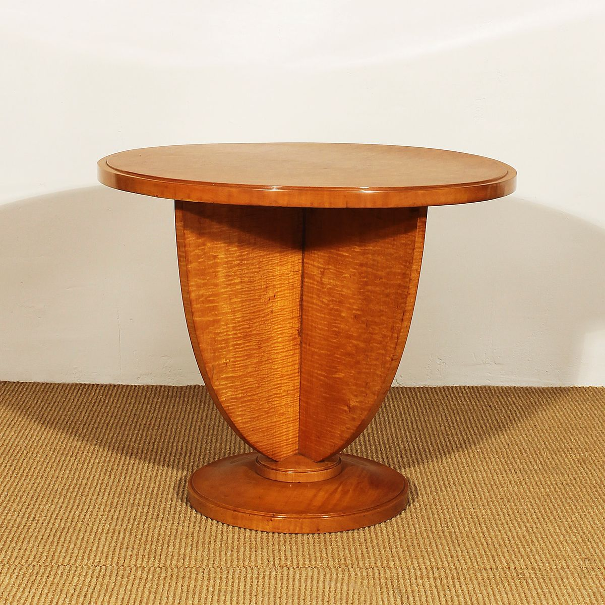 Good Art Deco French Maple Side Table, 1925