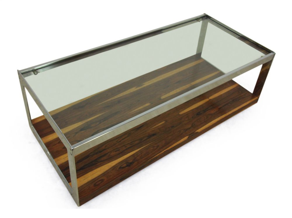 Vintage Glass Top Coffee Table By Merrow Associates For Sale At Pamono